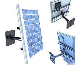 Wall Mount Solar Panel High Detaile 3D