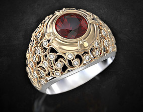 3D print model Stylish exclusive ring with patterns and 1