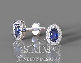 Oval earrings 3D print model