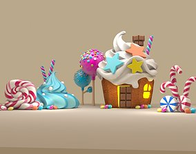 3d sweet cake house icecream sugar cute