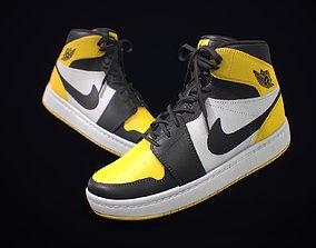 3D model Sneaker Nike Air Jordan Yellow White