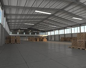 Warehouse 3D asset game-ready exterior