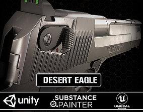 Desert Eagle Chrome 3D asset