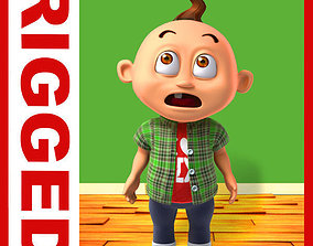 Boy cartoon rigged 04 3D