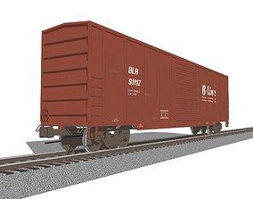 Train Car - Boxcar - Railroad Freight 3D model