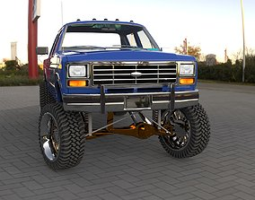 Ford F-150 1988 crew cab lifted 3D