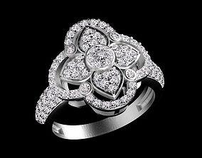 ring woman diamond 3D print model