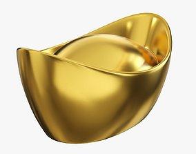Chinese gold ingot 3D model PBR