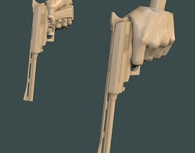 3D printable model Gun Hands - Left and Right