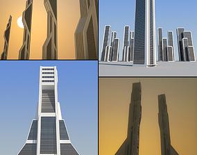 3D model Sci-Fi Skyscrapers Pack