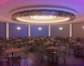 3D asset Jazz club - interior and props