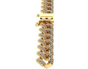 3D model chain bracelet chain necklace diamond cz