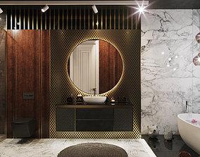 door bathroom modern 3D model