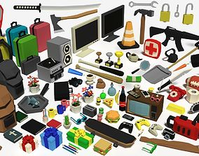 3D model Low Poly Items