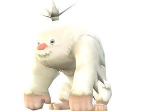Lowpoly Animal Cartoon - Yeti 3D model