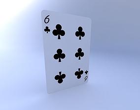 3D model Six of Clubs