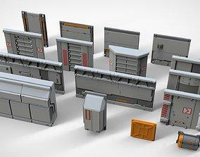 3D model sci-fi Architectural element 17