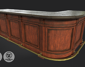 3D model Vintage Bar Table