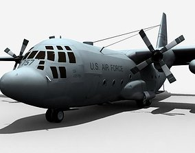 3D united C-130 Hercules