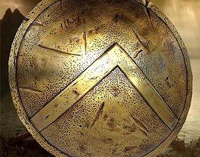 spartans shield 3D asset