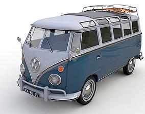 deluxe 3D model Volkswagen T1 Microbus Deluxe 1966