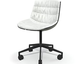 White Office Chair 3D