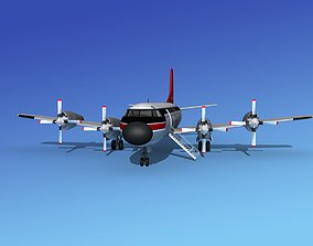 Lockheed L-188 Electra HP Northwest Airlines 3D