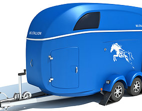 Horse Transport Trailer 3D model