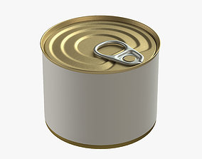 3D canned food round tin metal aluminium can 10