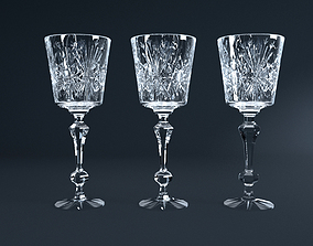 3D wine Crystal Glass