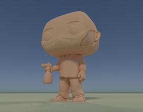 Custom Pop DIY Pandemic Covid Guy with 3D printable model