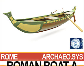 3D model Ancient Roman Boat A