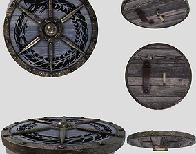 3D asset game-ready Viking Round Shield