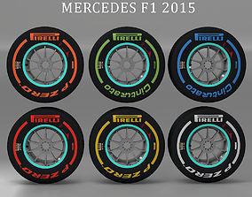 3D model W06 front tyre set
