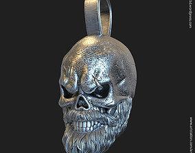 Skull Bearded vol3 Pendant 3D printable model