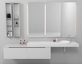 Bathroom furniture set Gold 4 3D model