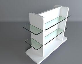 3D asset Simple Pharmacy Display Gondola