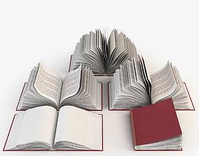 Set of open books 3D model