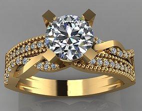 3D printable model GC GOLD TW0140- Diamond ring