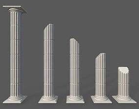 Modular Roman Columns 3D model