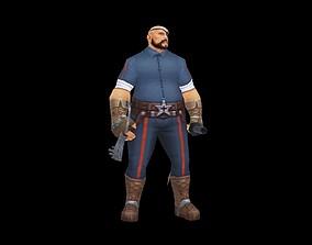 Prison guard 3D asset