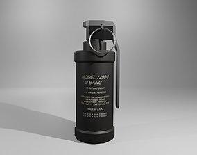 Flash Grenade - Flare Explosive - Granada 3D asset