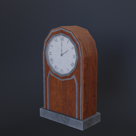 Aged table clock