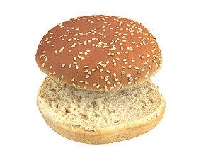 Photorealistic Burger Bun 3D Scan