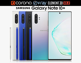 3D model Samsung Galaxy Note 10 Plus All Colors