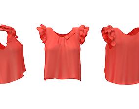 3D asset Berry Frill Top