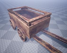 Damaged Cart 3D asset