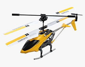 3D model Mini remote-controlled helicopter
