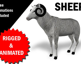3D model Sheep Rigged and Animated animated