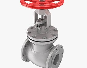 3D model VR / AR ready Gate Valve